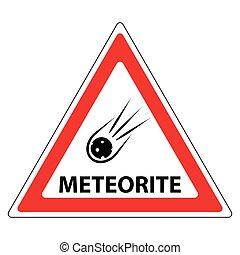 meteorite road sign
