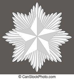 cockade with a pentagonal star