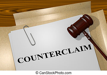 Counterclaim - legal concept - 3D illustration of...