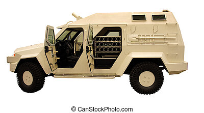 Infantry mobility vehicle isolates on white background
