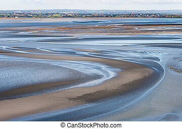Sea coast at low tide