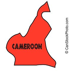 Cameroon Silhouette Map - Cameroon outline silhouette map in...