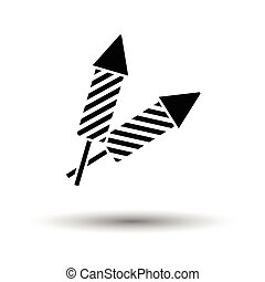 Party petard icon. White background with shadow design....