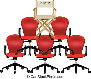 canvas chair with writing director