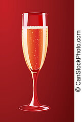 Vector illustration of a champagne