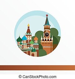 Moscow skyline, detailed silhouette. Trendy vector...