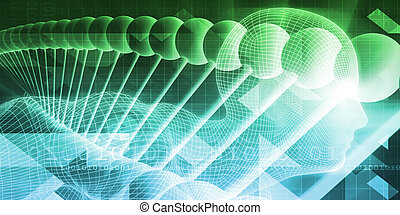 Future Science Background Concept Art as Abstract