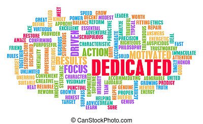 Dedicated Word Cloud Concept on White