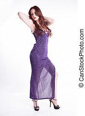 Isolated fashion model posing