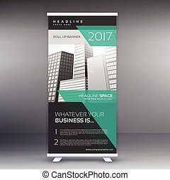 modern advertising roll up display banner template
