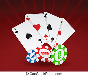 Vector illustration of cards