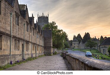 The Cotswold town of Chipping Campden, Gloucestershire,...
