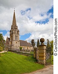 Cotswold Church in the village of Batsford, Gloucestershire