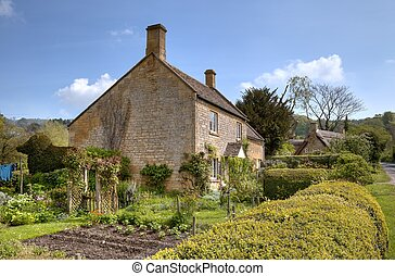 Cotswold cottage - Pretty stone cottage with vegetable...