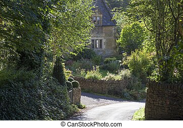 Cotswold cottage at Snowshill, Gloucestershire, England