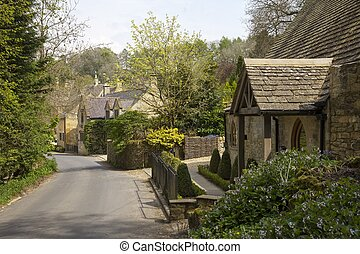 Cotswold cottages at Snowshill, Gloucestershire, England