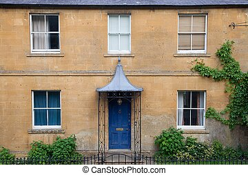 Cotswold house facade, Gloucestershire, England