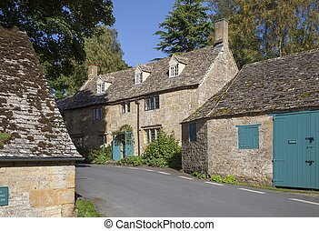 Cotswold village of Snowshill, Gloucestershire, England