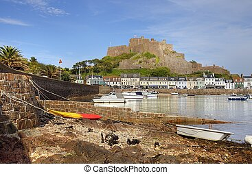 Jersey, Channel Islands - Mont Orgueil Castle at Gorey,...