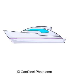 Powerboat icon, cartoon style - Powerboat icon. Cartoon...