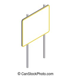 Advertising sign icon, isometric 3d style - Advertising sign...