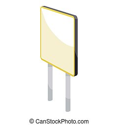 Advertising sign icon, cartoon style - Advertising sign...