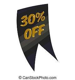 Tag thirty percent discount icon, cartoon style - Tag thirty...