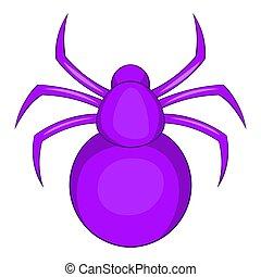 Spider icon, cartoon style - Spider icon. Cartoon...