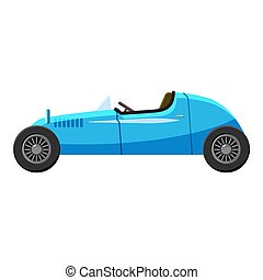 Blue sport car icon, isometric 3d style - Blue sport car...