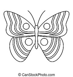 papillon, lumière, icône,  Style, contour