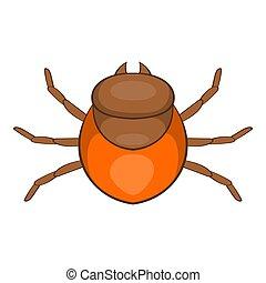 Tick icon, cartoon style - Tick icon. Cartoon illustration...