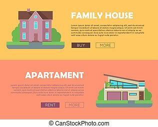 Set of Real Estate Vector Web Banners. - Set of real estate...