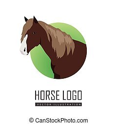 Sorrel Horse Logo - Sorrel horse with white muzzle vector....