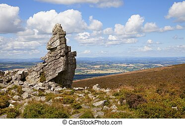 Rocky outcrop at Stiperstones, Shropshire, England