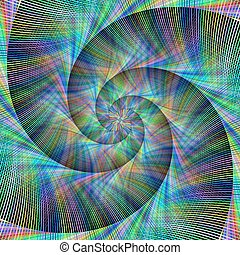 Computer generated spiral fractal background - Computer...