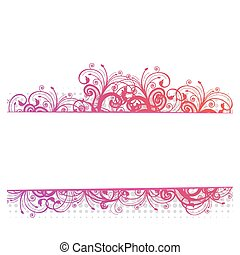 Vector illustration of a floral bor