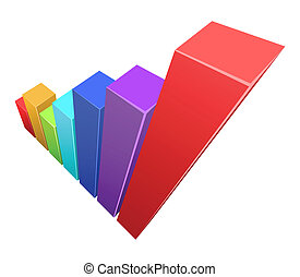 Vector illustration of colorful 3d