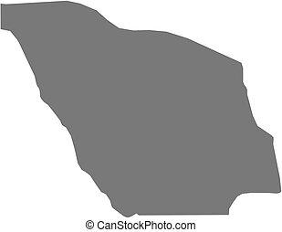 Map - Zou (Benin) - Map of Zou, a province of Benin.