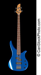 Vector illustration of bass guitar