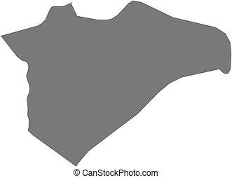 Map - Jerusalem (Israel) - Map of Jerusalem, a province of...