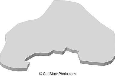 Map - Oslo (Norway) - 3D-Illustration - Map of Oslo, a...