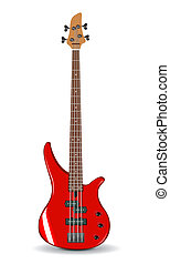 Vector illustration of red bass gui - Vector realistic...