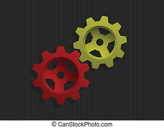 Vector illustration of colored gear