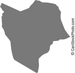 Map - Misrata (Libya) - Map of Misrata, a province of Libya.