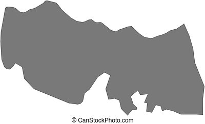 Map - Trabzon (Turkey) - Map of Trabzon, a province of...