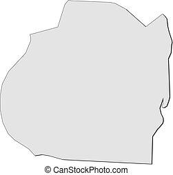 Map - Bagdad (Iraq) - Map of Bagdad, a province of Iraq.