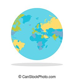 Planet Earth with Countries Vector Illustration. - Planet...