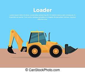 Loader Banner Flat Design Vector Illustration - Loader...