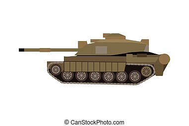 Military Tank Isolated. Armoured Fighting Vehicle - Military...