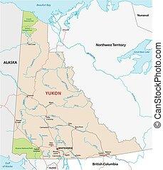 yukon road map, canada